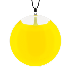 Necklace - Galet Medium Milk Yellow
