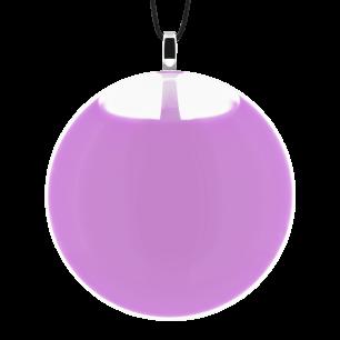 Necklace - Galet Medium Milk Lilas