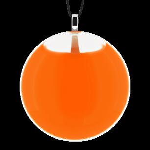 Necklace - Galet Medium Milk Orange