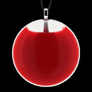 Necklace - Galet Medium Milk Light red