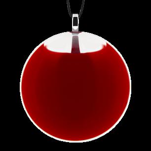 Necklace - Galet Medium Milk Dark red