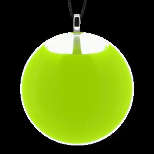 Necklace - Galet Medium Milk Light Green