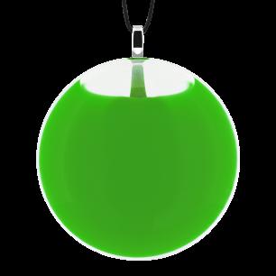 Necklace - Galet Medium Milk Dark green