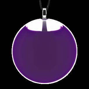 Necklace - Galet Medium Milk Dark purple