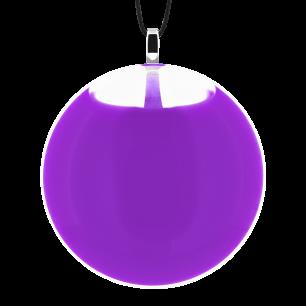 Necklace - Galet Medium Milk Purple