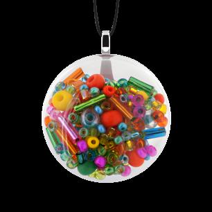 Pendentif en verre soufflé - Galet Mini Mix Perles Perles Printemps