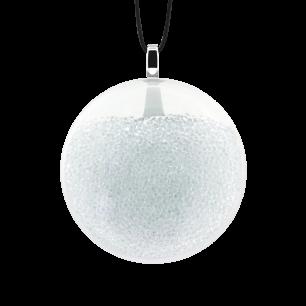 Pendentif en verre soufflé - Galet Mini Billes Cristal