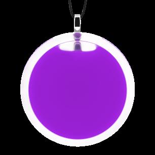 Pendentif en verre soufflé - Cachou Giga Milk Violet