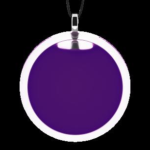 Pendentif en verre soufflé - Cachou Giga Milk Violet foncé
