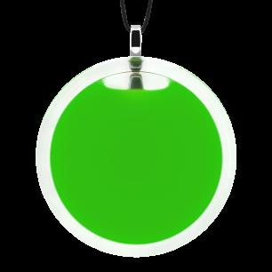 Pendentif en verre soufflé - Cachou Giga Milk Vert foncé
