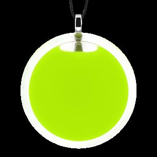 Pendentif en verre soufflé - Cachou Giga Milk Vert Clair