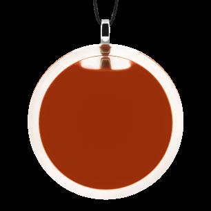 Pendentif en verre soufflé - Cachou Giga Milk Rouille