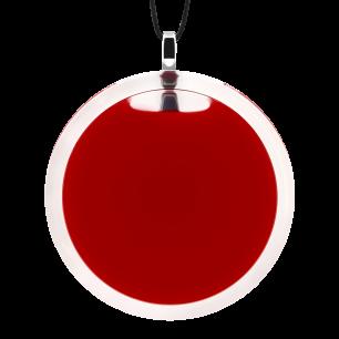 Pendentif en verre soufflé - Cachou Giga Milk Rouge foncé