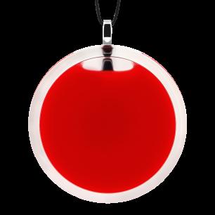 Pendentif en verre soufflé - Cachou Giga Milk Rouge clair