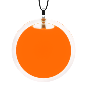 Pendentif en verre soufflé - Cachou Giga Milk Orange