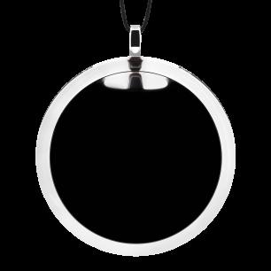 Pendentif en verre soufflé - Cachou Giga Milk Noir