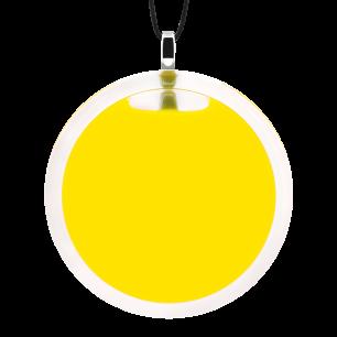 Pendentif en verre soufflé - Cachou Giga Milk Jaune