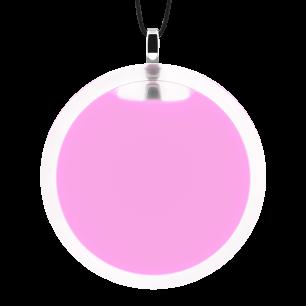 Pendentif en verre soufflé - Cachou Giga Milk Bubble Gum