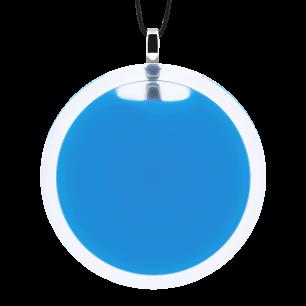 Pendentif en verre soufflé - Cachou Giga Milk Bleu roi