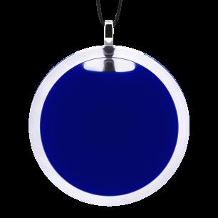 Pendentif en verre soufflé - Cachou Giga Milk Bleu Foncé