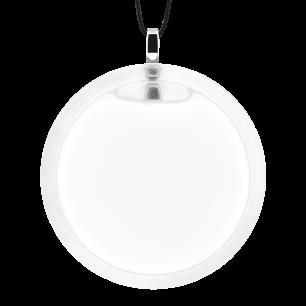 Pendentif en verre soufflé - Cachou Giga Milk Blanc