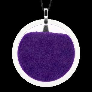 Pendentif en verre soufflé - Cachou Giga Billes Violet