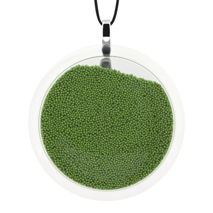 Pendentif en verre soufflé - Cachou Giga Billes Vert
