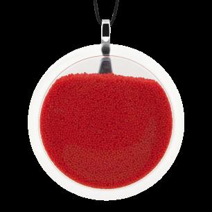 Pendentif en verre soufflé - Cachou Giga Billes Rouge