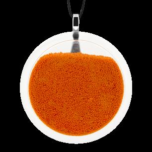 Pendentif en verre soufflé - Cachou Giga Billes Orange