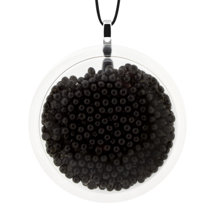 Pendentif en verre soufflé - Cachou Giga Billes Noir
