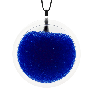 Pendentif en verre soufflé - Cachou Giga Billes Bleu Foncé