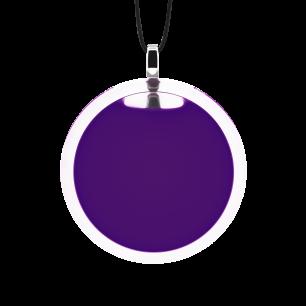 Necklace - Cachou Medium Milk Dark purple
