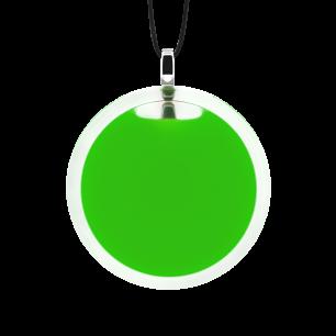 Necklace - Cachou Medium Milk Dark green