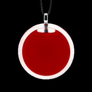 Necklace - Cachou Medium Milk Dark red
