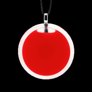Necklace - Cachou Medium Milk Light red
