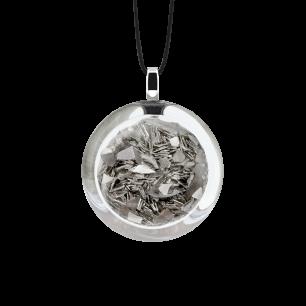 Kettenanhänger - Cachou Mini Paillettes Silber