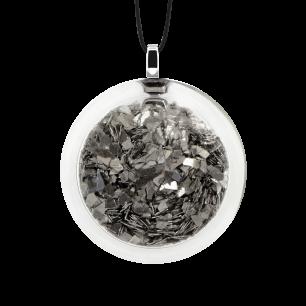Necklace - Cachou Medium Paillettes Silver