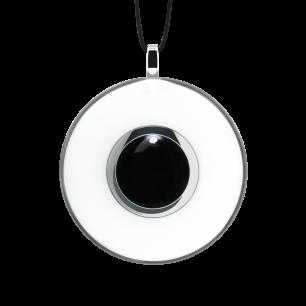 Necklace - Duo Medium White / black