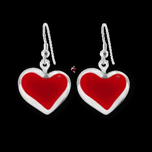 Hook earrings - Coeur Milk Dark red