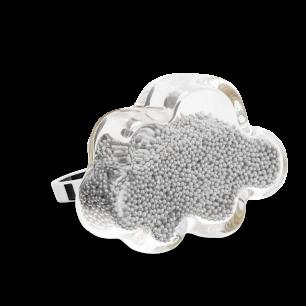 Glasring - Nuage Medium Billes Silber
