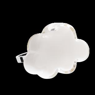 Anello in vetro - Nuage Medium Milk Bianco