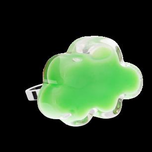 Anello in vetro - Nuage Medium Milk Verde Cactus