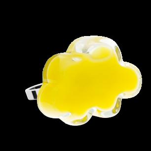 Anello in vetro - Nuage Medium Milk Giallo
