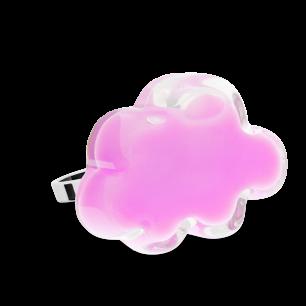 Anello in vetro - Nuage Medium Milk Bubble Gum