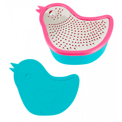 Grater with box - Zozio Pink