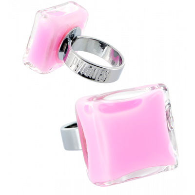 Carre Medium Milk - Glass ring Bubble Gum