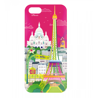 Coque pour iPhone 5/5S - I Cover 5 Paris rose