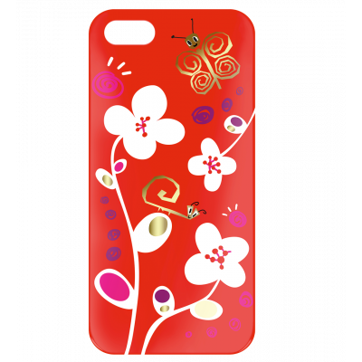 Case for iPhone 5/5S - I Cover 5 White Flower