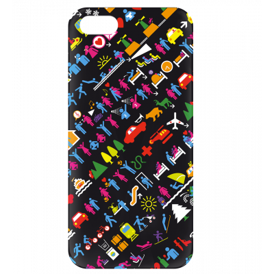 Case for iPhone 5/5S - I Cover 5 Picto
