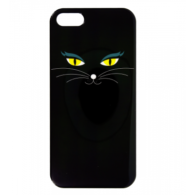 Case for iPhone 5/5S - I Cover 5 Black Cat